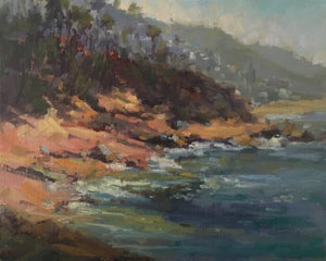 """Beautiful Laguna"" By Lorraine Dawson, Oils on Panel"