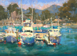 """Dana Point Harbor 1"" By Lorraine Dawson, Oils on Panel"