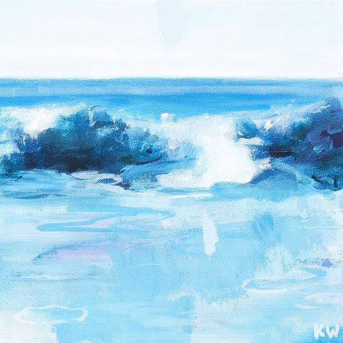 Laguna Abstract #4 by Kurt Weismair, Acrylic on Canvas