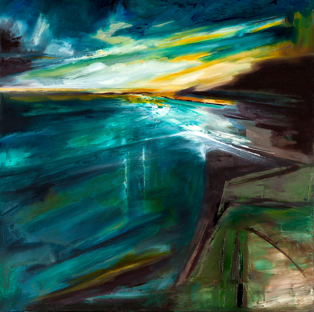 """Light Cast"" By Tracy Kimmons, Oil on Canvas"