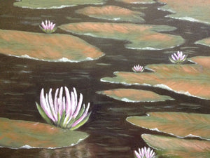"""Lily Pond"" By Annette Tan, Acrylic on Canvas"