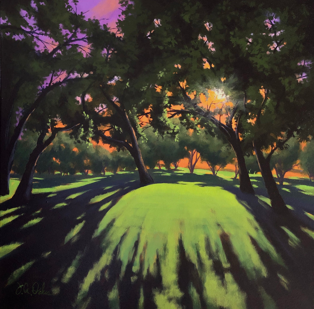 """Live Oak Shadows"" By Joe A. Oakes, Acrylic on Canvas"
