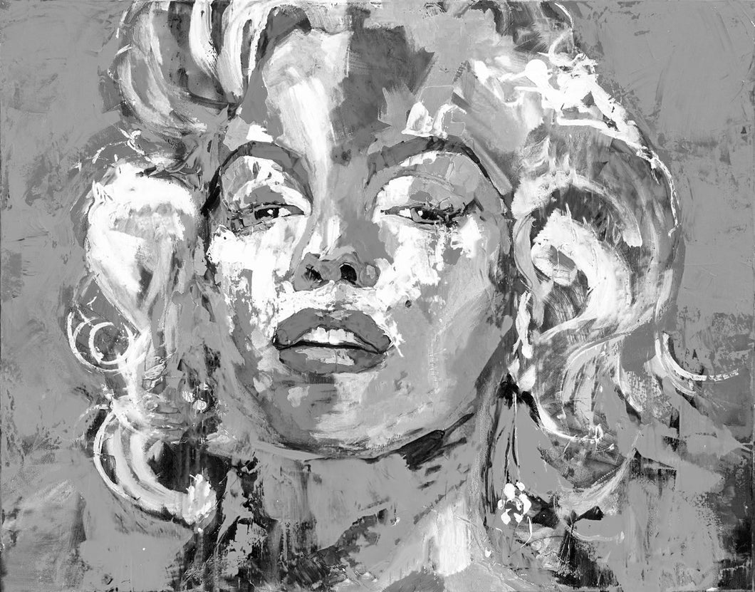 """Marilyn"" By Reza Safa, Oil & Acrylic on Canvas"