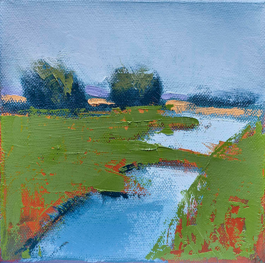 Marsh Pool by Carrie Megan, Oil on Canvas