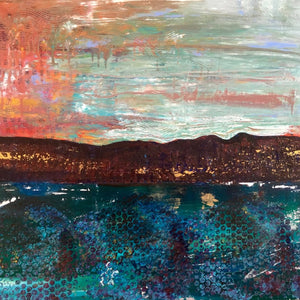 Meanwhile by Christine Moore Mixed Media on Canvas