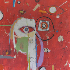 The All Seeing Eyes by Tony Butler, Mixed Media on Canvas