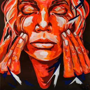 """Red Hands Tale"" By Carolyn Mielke, Acrylic on Canvas"