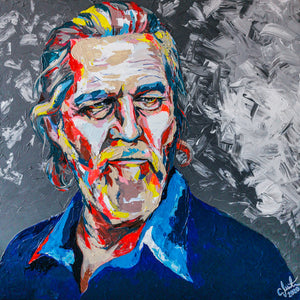 """The Dude (Jeff Bridges)"" By Carolyn Mielke, Acrylic on Canvas"