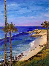 """Serene Beach"" By Monica List, Acrylic on Wood Cradled Panel"