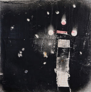 Nocturnal Column by Mira M. White, Encaustic and Oil on Wood Panel