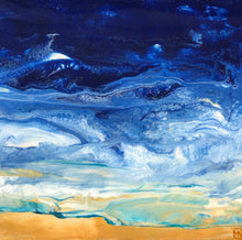"""Ocean Breeze ll"" By Mayra Navarro, Acrylic on Wood Panel"