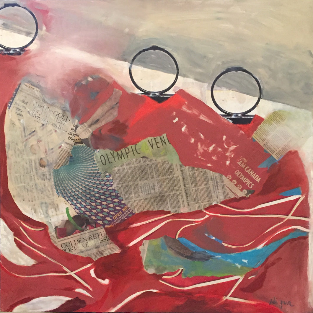 Olympic by Adi Zur, Mixed Media on Board