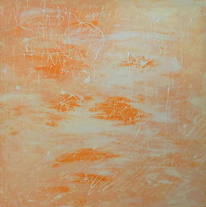 Orange Words by Sirenes, Acrylic on Canvas