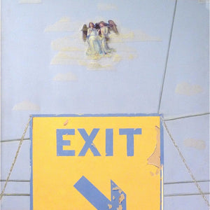 """Old Sign on Washington Beach"" By Irina Chelyapov, Mixed Media on Canvas"