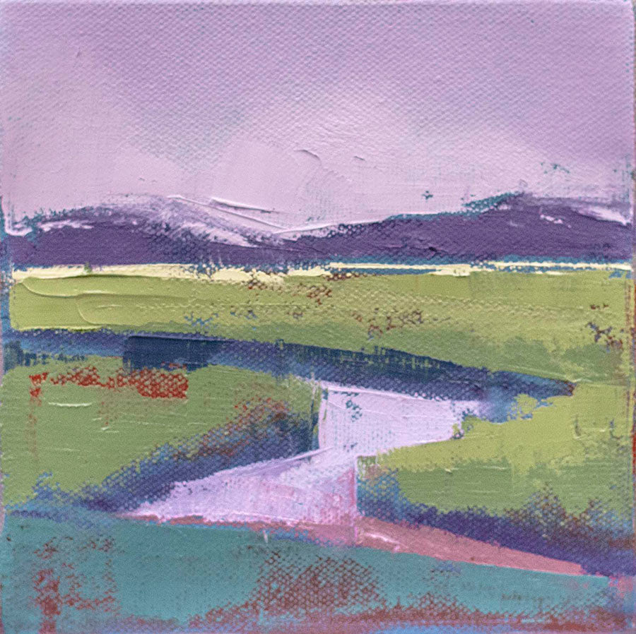 Purple Marsh by Carrie Megan, Oil on Canvas