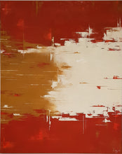 "Quiet Red"" By Sabine Kay, Oil on Canvas"