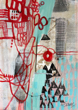 """Re-attached"" By Natasha Evans, Mixed media on Paper"