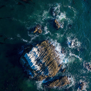 """Laguna Rocks"" by Rich Caldwell, Aerial Photography on Museum Grade Fine Art Paper"