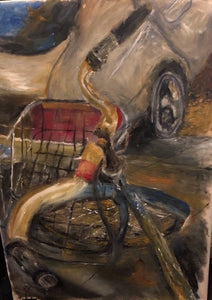 """Ride"" By Christine Nelson, Oil on Canvas"