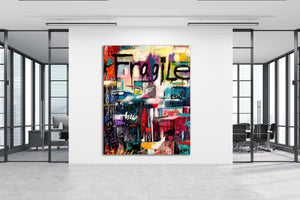 """Fragile Ego"" By Rocky Asbury, Mixed Media"
