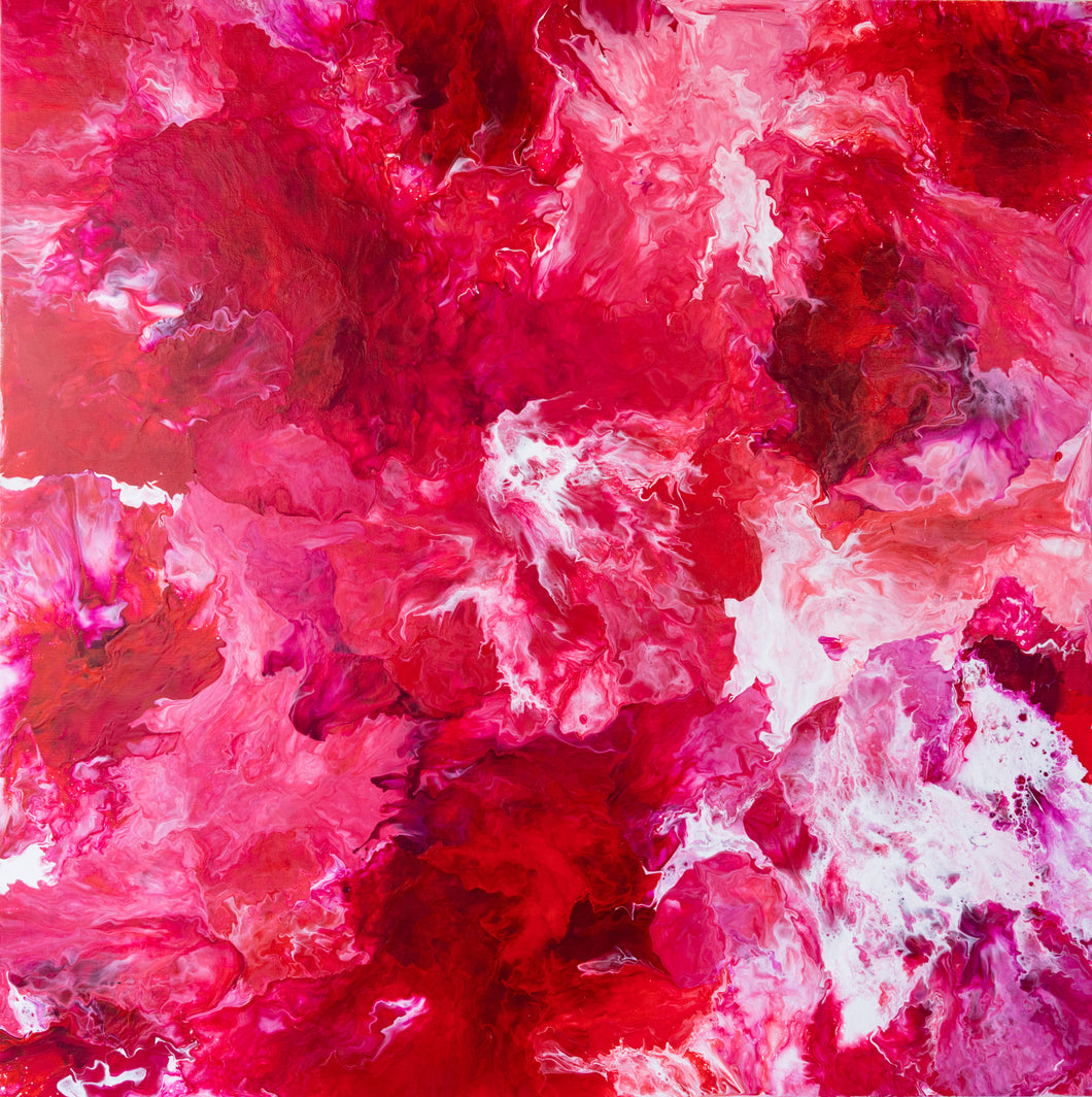 """Saint Valentin (Valentine's Day)"" By Natalie Gourdal, Acrylic on Canvas"