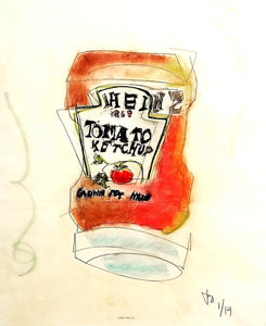"""Salsa del Americano"" By Jesse Owens, Mixed Media"