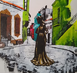 """Havana Vieja"" By Holden Van Howe, Hand Embellished Giclee on Canvas"