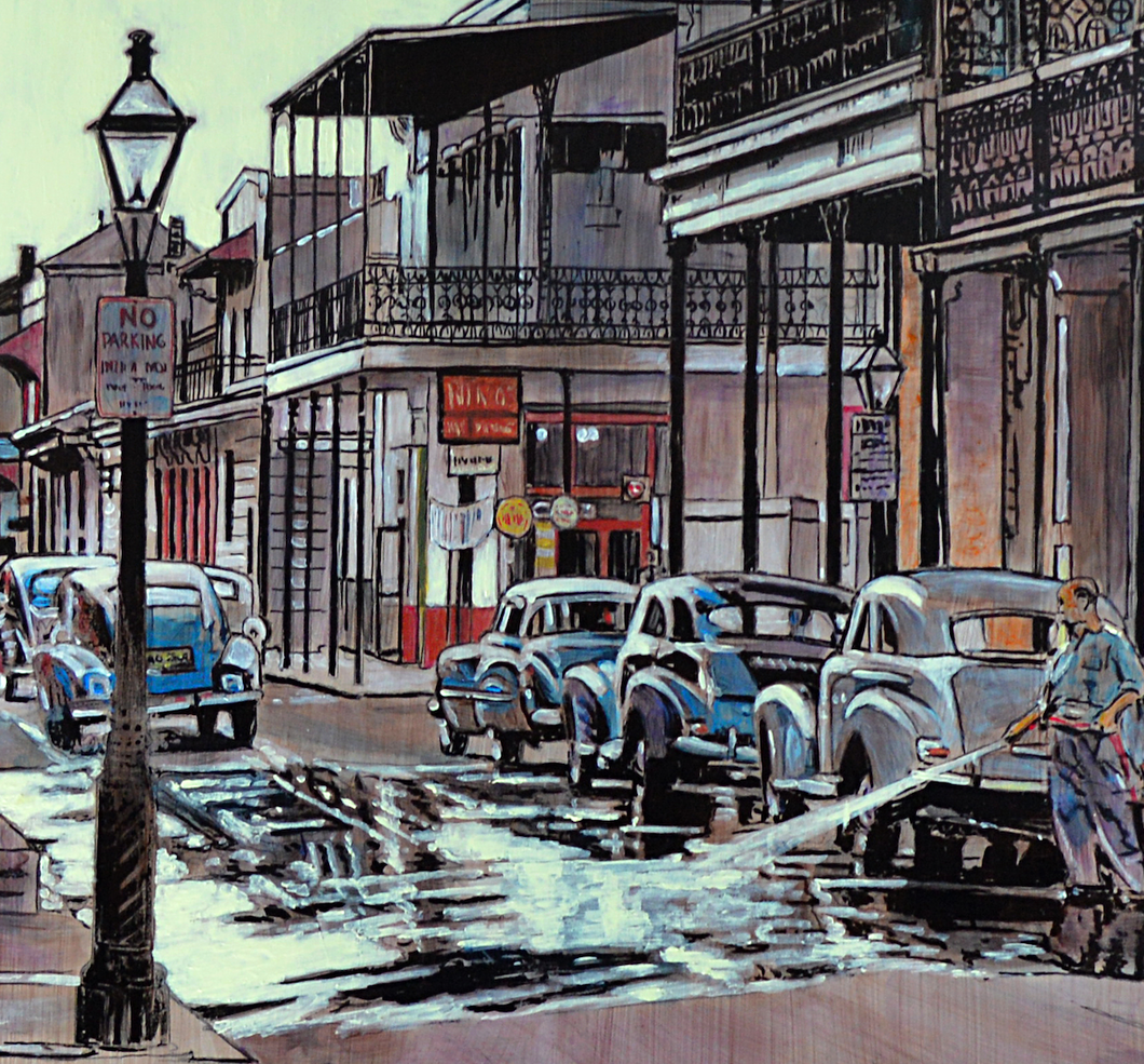"""Morning in the French Quarter"" By Keith Oelschlager, Acrylic on Canvas"