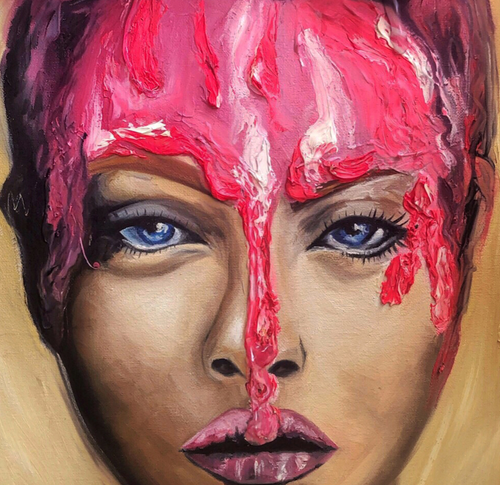 """940"" By Galya Kerns, Oil and Plastic On Canvas"