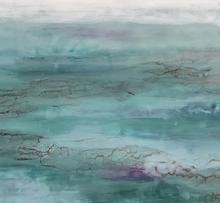 """DREAMING DAYS AWAY"" By Jodie Stejer, Encaustic With Shellac"