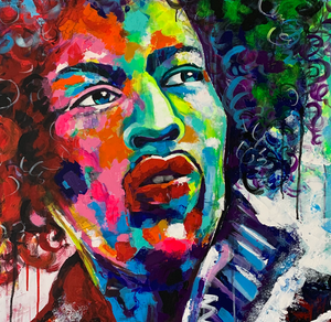 """Jimi"" By Chaya De Silva, Acrylic on Canvas"