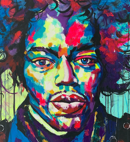 """Hendrix"" By Chaya De Silva, Acrylic on Canvas"