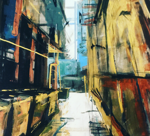 """Alley"" By Luna, Acrylic on Canvas"