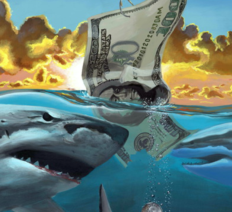 """Loan Shark"" By John Oleary, Acrylic on Canvas"