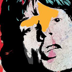 """Mick"" By Carol Levin, Printed on Metallic Paper & Acrylic"