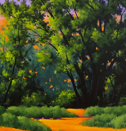 """Moment of Spring"" By Joe A. Oakes, Acrylic on Canvas"