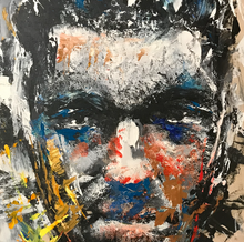 """Vincent Cassel Colored"" By Eric Son, Mixed Media on Wood"