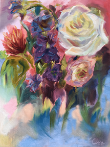 "The Accidental Rose"" By Natalie Cozzi, Oil on Archival Matte Paper"