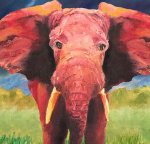 """The Defiant Elephant"" By Natalie Cozzi, Archival Matte Paper"