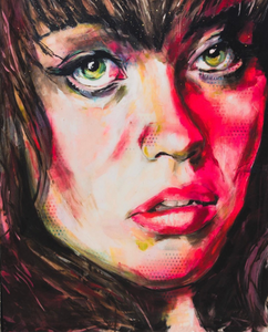 Erin by Danny Greene, Acrylic, Oil, and Resin