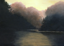 Misty River by Annette Tan, Acrylic on Canvas
