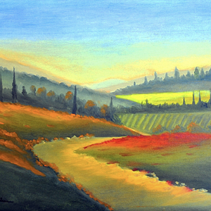Valley View by Annette Tan, Acrylic on Canvas