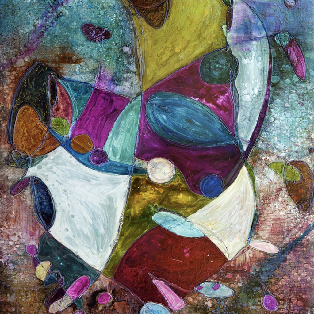 Plight of the Fisherman by Deborah Argyropoulos, Mixed Media on Metal