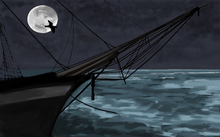 Night Sail by Carole Boyd, Digital Painting on Canvas (Framed)