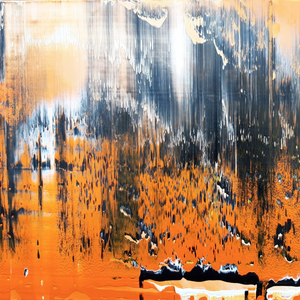 """Orange"" By Monika Kovatsch, Acrylic on Canvas"