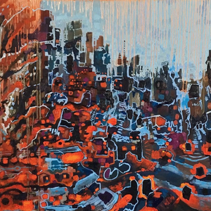 """Crash"" By Sienna Browne, Oil on Canvas"