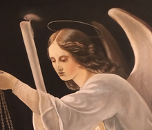 """Archangel Gabriel "" By Renata Bosnjak, Oil on Canvas"