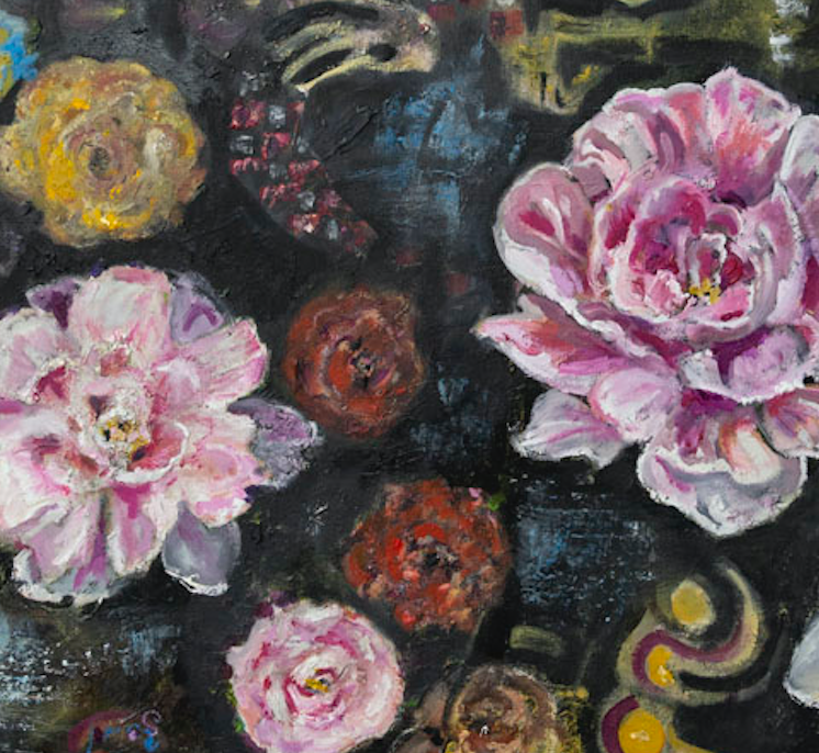 """I Dreamed of Peonies"" By Kate Wood,  Oil on Canvas."