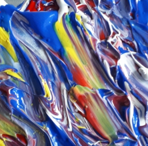"""Art Glass Style Impasto"" By Tim Galimany, Acrylic on Canvas"