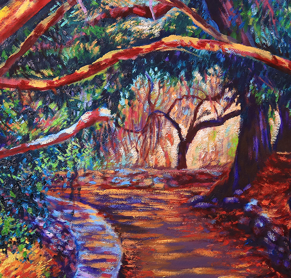 """Desarrollo en el Arroyo"" By Ruben Zavala, Oil on Canvas"